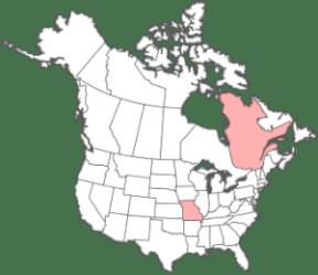 Au 18ième siècle, la famille Hubou-Tourville est concentrée au Bas-Canada. Seul Toussaint Tourville s'installe à St-Louis (MIssouri).