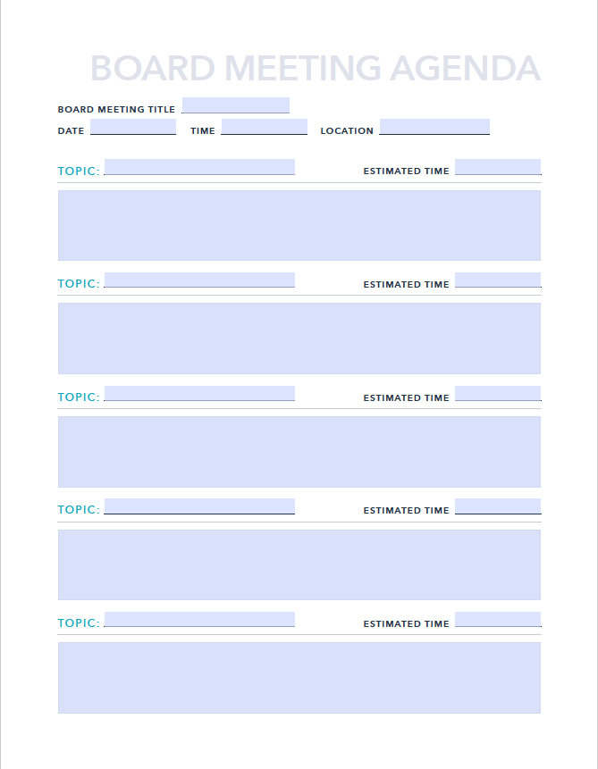 20/02/2021· keep your meetings running on time with this adjustable meeting agenda template. Free Board Meeting Agenda Template For Pdf Excel Hubspot