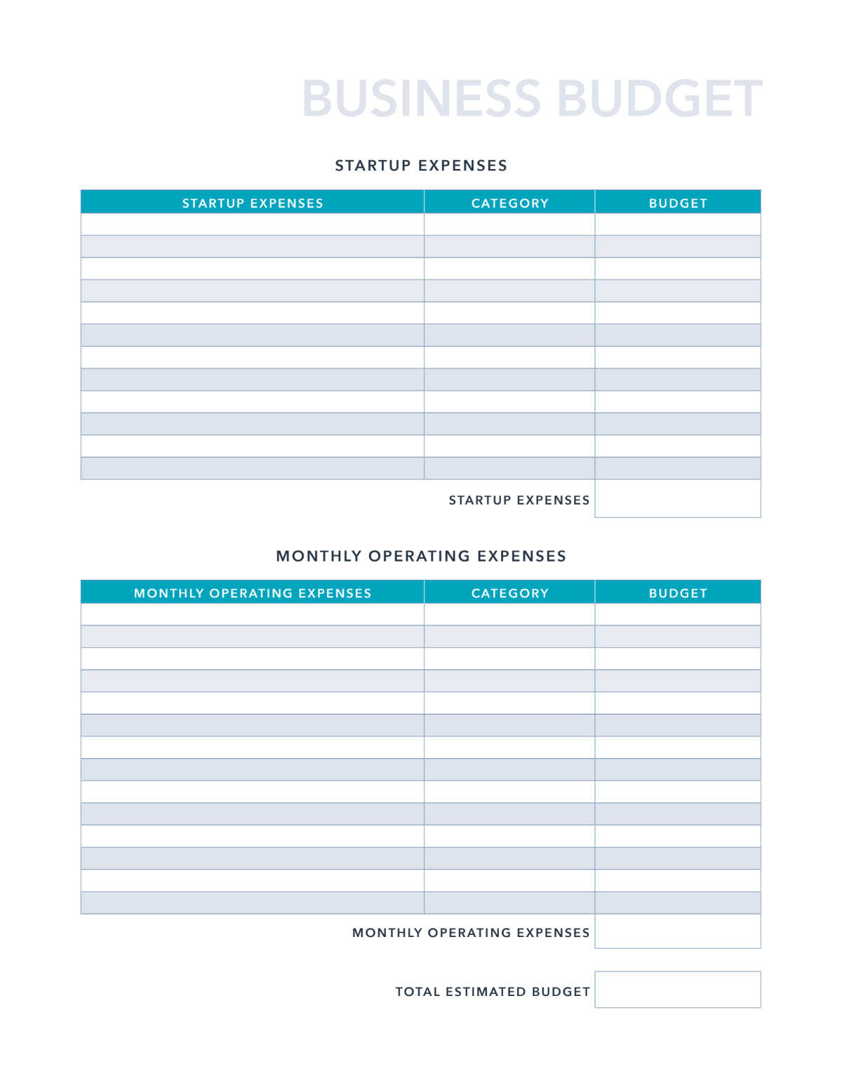 This document only tracks the money that you have spent. Free Business Budget Template For Pdf Excel Google Sheets Hubspot