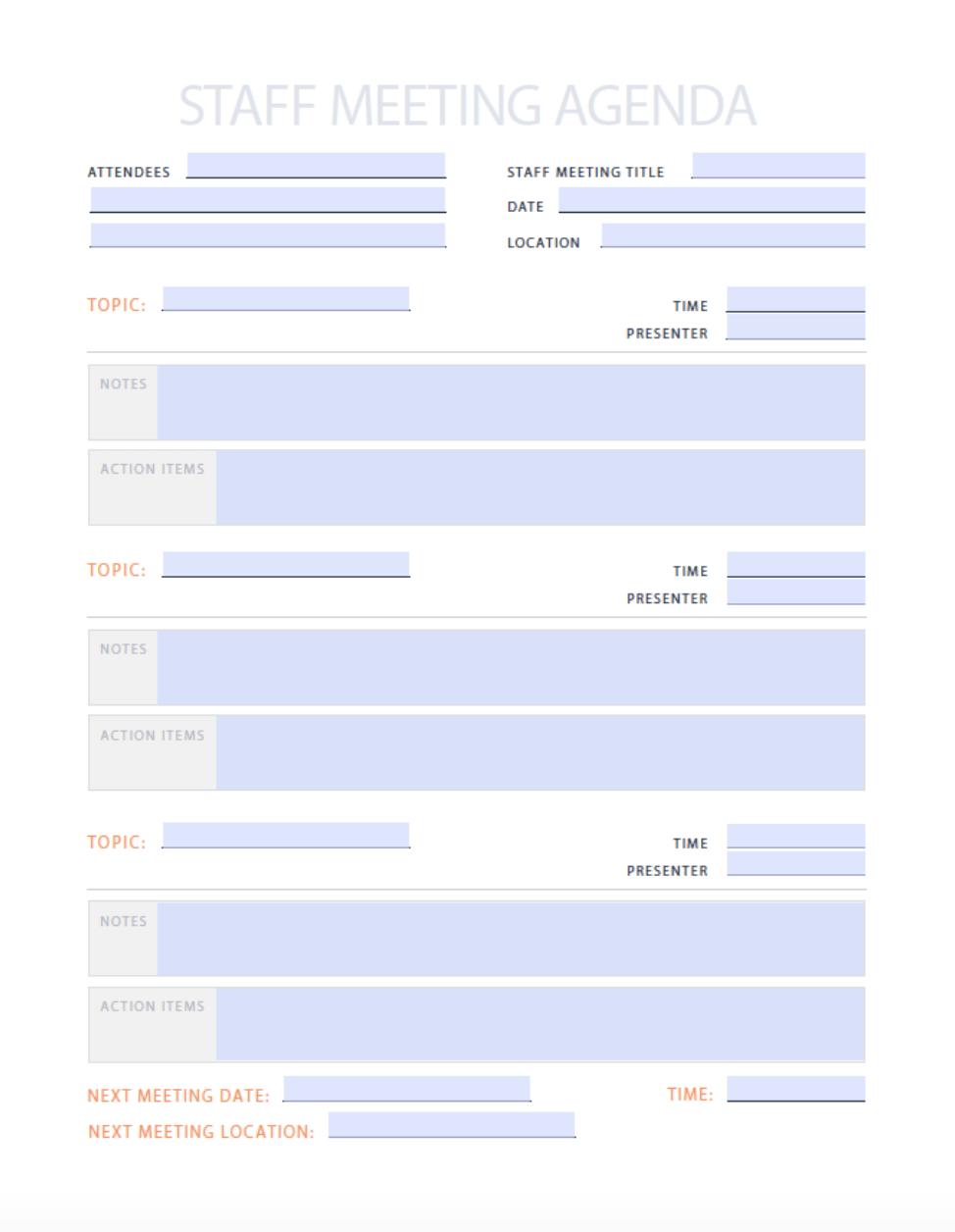 Sample board meeting agenda template. 9 Free Agendas Schedules Templates Examples Hubspot