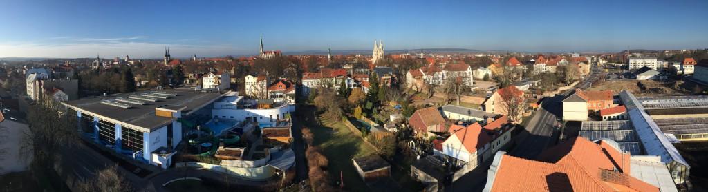 Hochbild-Panorama Mühlhausen