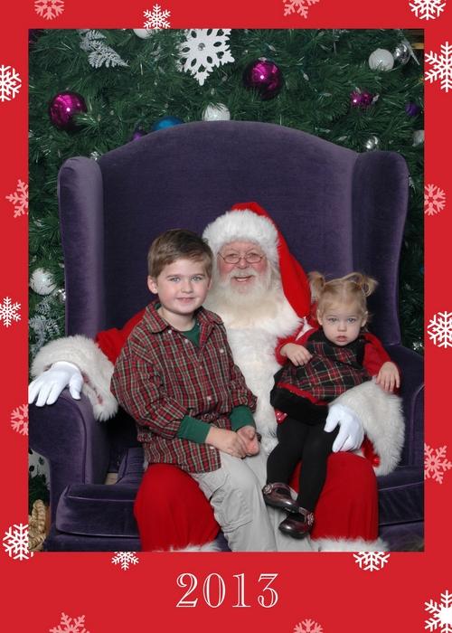 2013-12-01 Santa kids photo Jacksonville Mall