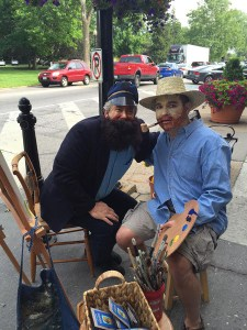 Vincent Van Gogh painting his friend the Mailman on Main Street, courtesy of Mary Kay Haneline and Creative Fingers