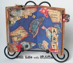 Cyndi Duncan, altered book with niches