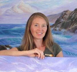 Eva Volf, seacape painter, Aurora Ohio