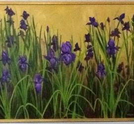 Nancy Woods, iris painting