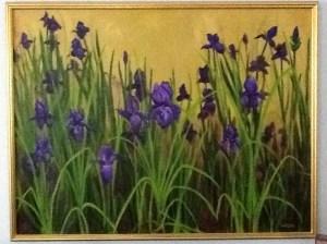Nancy Woods, iris painting