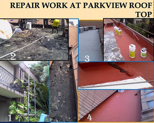 Repair work at Parkview Estate