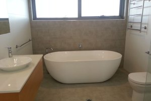 Bathroom of new house built in Dalmeny