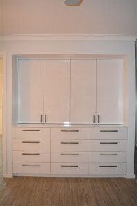 New built-in storage cabinet