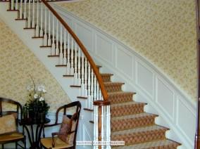wainscot foyer stairs
