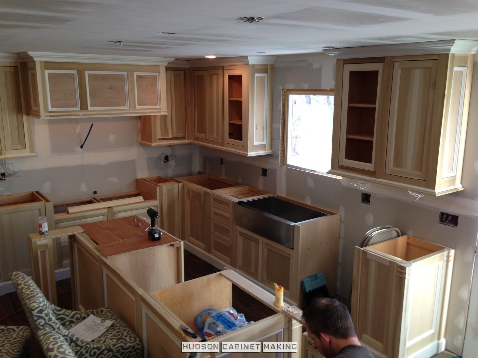 cabinets must be aligned perfectly to come together square and true