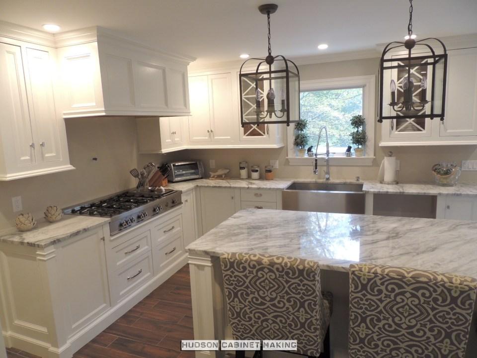 kitchen details best seen when all painted white