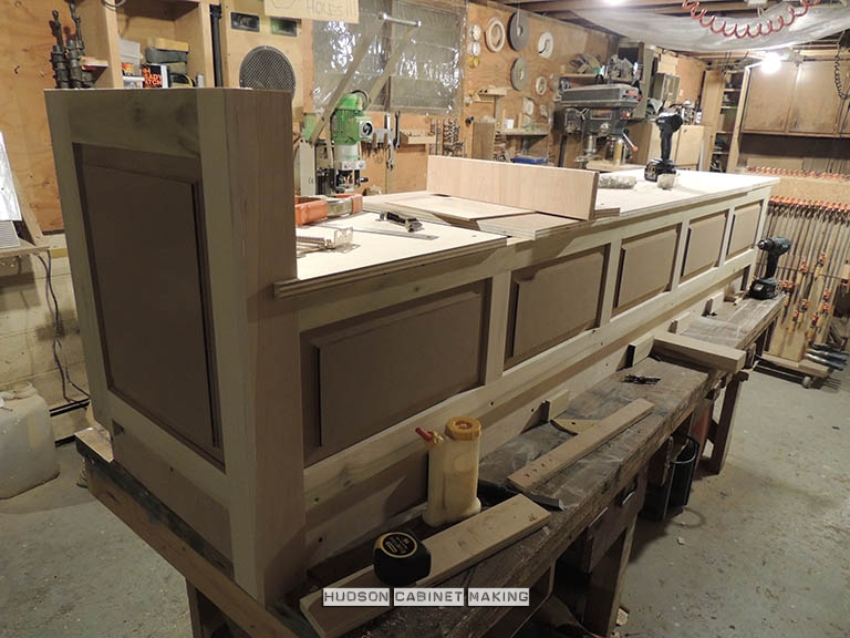 window seat being made