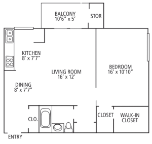 1 Bed / 1 Bath / 750 sq ft / Please Call