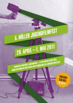 Plakat zum Hüller JugendFilmFest (29.04.-01.05.2011) von Felix Kopp