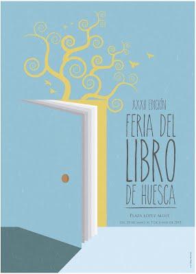 Cartel de la Feria del Libro de Huesca