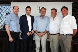 Von rechts: Günther Gloßler, Rupert Schulte