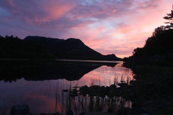Kurz vor Sonnenuntergang an der Hytte_0035