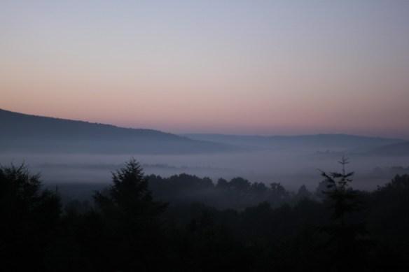 Blick vom Koppelweg über den Nebel 2050