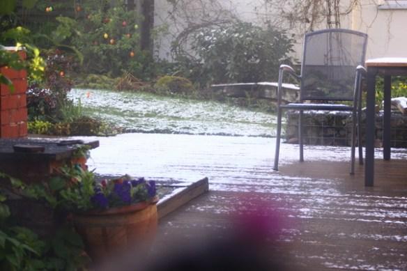 Heute mal Schnee auf der Terasse 3375