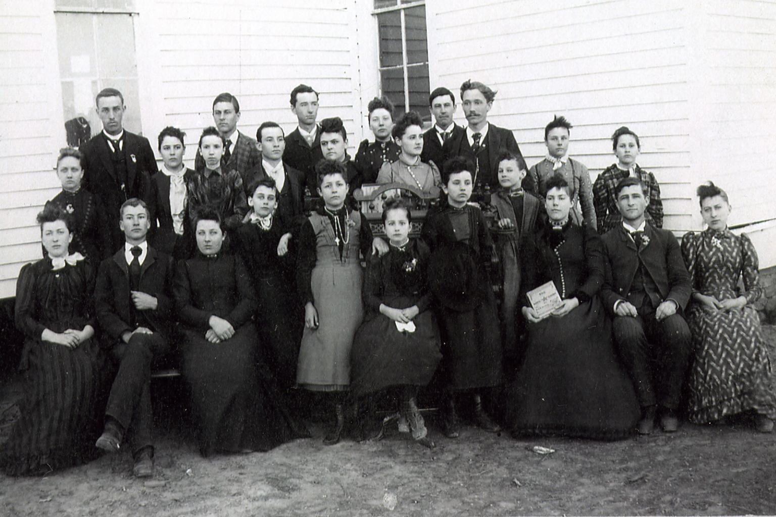 Miss Gilbert's Music and Elocution Classes, 1891-92, Whitt, TX.