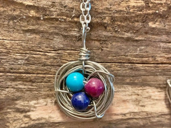 Grape Jam Bird Nest Necklace