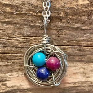 Grape Jam Bird Nest Necklace
