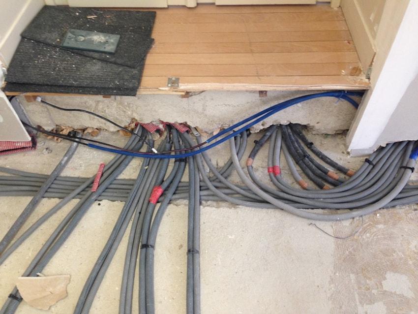 Câblage pour des bureaux