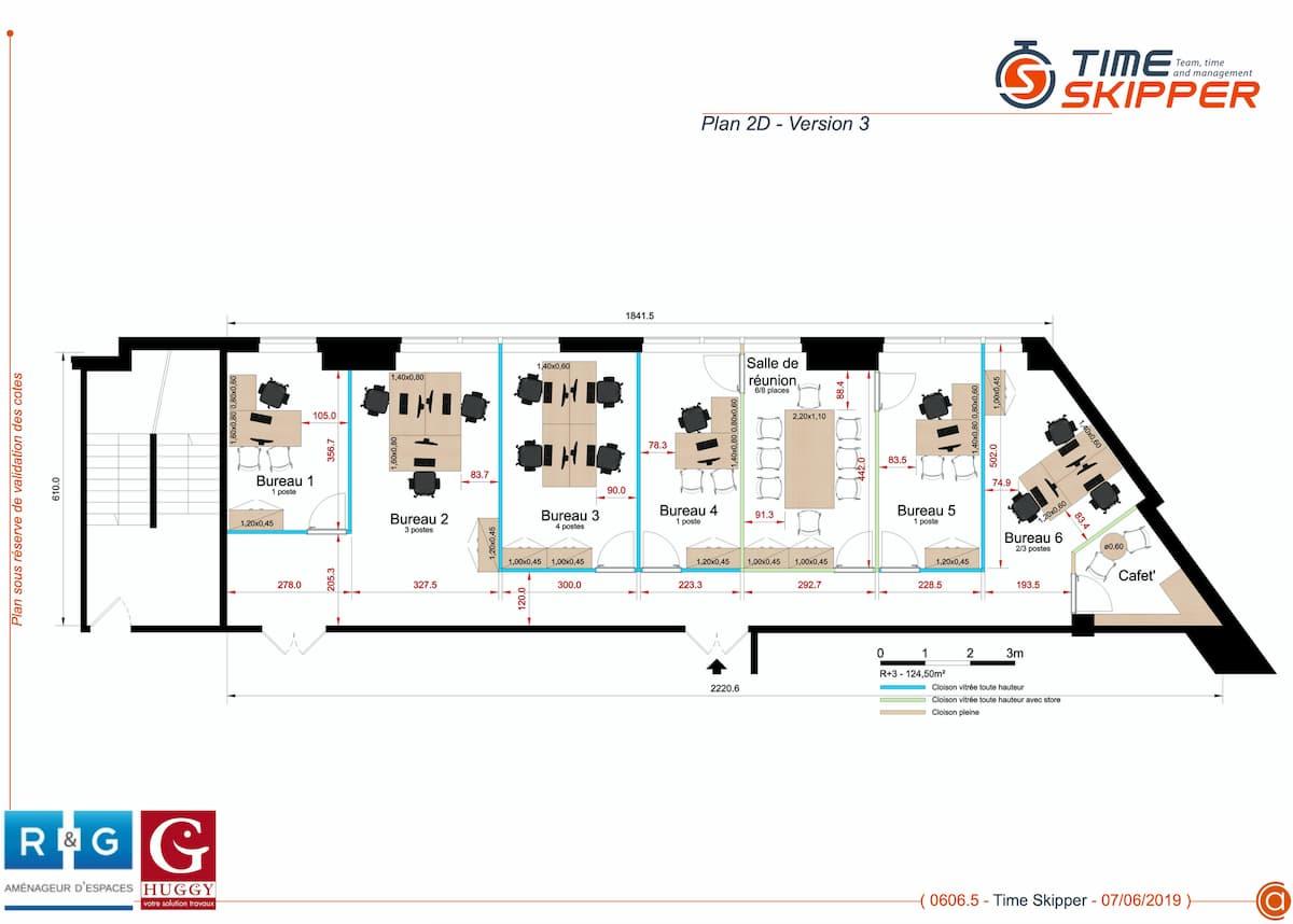 realisation plans bureaux