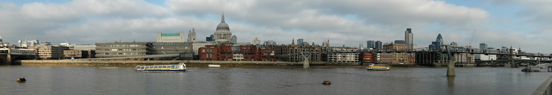 London, The Thames by St Paul's Cathedral