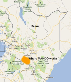 MANDO's location in the Southern Rift Valley