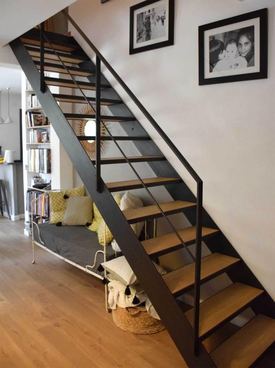 escalier chelle hugo ferronnerie. Black Bedroom Furniture Sets. Home Design Ideas