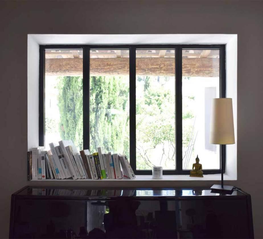 Fenêtre fixe profil acier - Aix en Provence (13)
