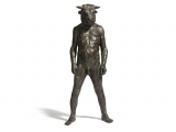 "<h5>Standing Minotaur</h5><p>Bronze, 47 x 22 ½ x 22 ½"" (56 ¼ x 56 ¼cm)</p>"