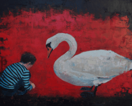 """<h5>Contemporary Brothers</h5><p>Oil on Linen, 40"""" x 50""""</p>"""