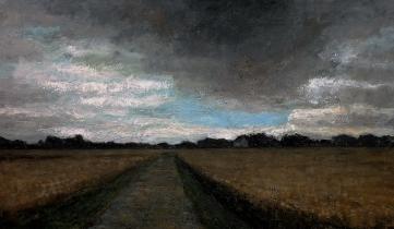 """<h5>Orage d'été</h5><p>Oil on canvas, 44¾"""" x 76¾""""</p>"""