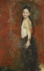 "<h5>Gypsy</h5><p>Oil & wax on canvas, 51"" x 31½""</p>"