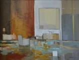 """<h5>A l'atelier</h5><p>Oil on canvas, 45 ½ x 35"""" (115 ½ x 89cm) </p>"""