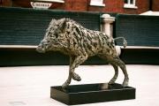"<h5>Wild Boar</h5><p>Bronze, 35"" x 47"" (89 x 119cm)</p>"