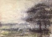 """<h5>Meadow Dusk</h5><p>Watercolor on paper, 52"""" x 72"""" (132 x 183cm)</p>"""