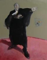 """<h5>Plaidoyer pour un oiseau rare </h5><p>Mixed media on canvas, 36"""" x 28¾"""" (91.5 x 73cm) </p>"""