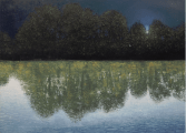"<h5>Le Jour étant la Nuit</h5><p>Oil on canvas, 63 x 86 ¾"" (160 x 220cm)</p>"