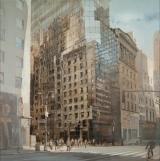 "<h5>48th St and 5th Ave, NYC</h5><p>Oil on Linen. 59"" x 59"" (150 x 150 cm)</p>"