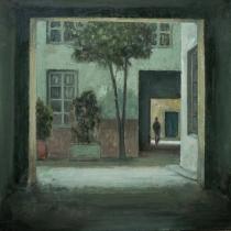 """<h5>Passage</h5><p>Oil on canvas, 59¼"""" x 59¼""""</p>"""