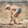 """<h5>L'enfant à la casquette blanche</h5><p>Pastel on paper, 31½"""" x 31½"""" (80 x 80cm)</p>"""