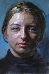 """<h5>Eléonore</h5><p>Oil on Canvas, 57½"""" x 38¼""""(146 x 97cm)</p>"""