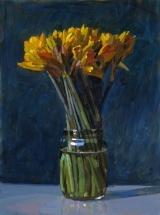 "<h5>Jonquilles</h5><p>Oil on Canvas, 51"" x 38"" (129.5 x 96.5cm)</p>"