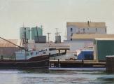 "<h5>Gloucester Boats</h5><p>Oil on linen, 23¾"" x 32"" (60 ¼ x 81cm)</p>"