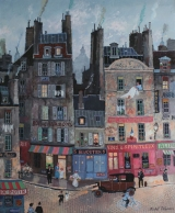 "<h5>Rue des Vertus</h5><p>Acrylic on board, 18"" x 15"" (45.75 x 38cm)																																																																																																					</p>"